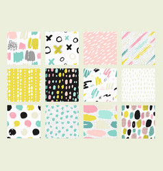Collections of colorful seamless pattern vector