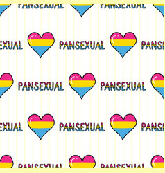 cute pansexual heart with text cartoon seamless vector image