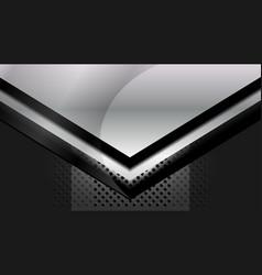 Dark grey metal background vector