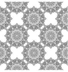 Decorative floral monochrome mandala ethnicity vector