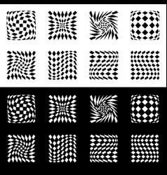 Distorted mesh grid geometric element set of 8 vector