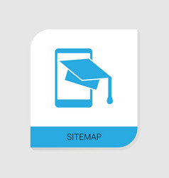 Editable filled sitemap icon from ecommerce icons vector