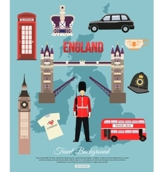 England travel background with place for text set vector