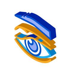 Eyelid problem isometric icon vector