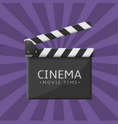 Film clapper board vector