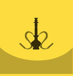 flat icon with dark shadow hookah and hookah vector image