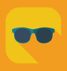 Flat modern design with shadow icons glasses vector