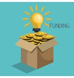 Funding concept design vector