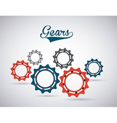 Gears world design vector