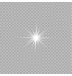 glow isolated white vector image