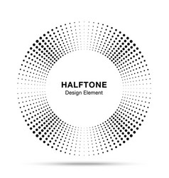 Halftone black circle frame dots logo emblem vector