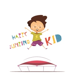 Happy Jumping Kid vector image
