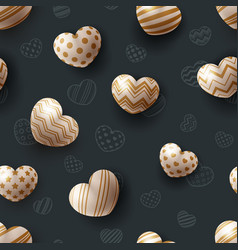 heart and love - seamless pattern vector image