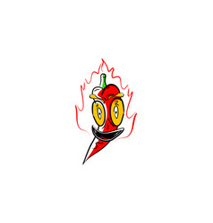 hot and spicy chili logo mascot designs vector image