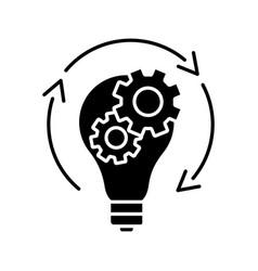 Idea generation glyph icon vector
