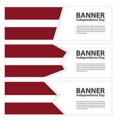 latvia flag banners collection independence day vector image
