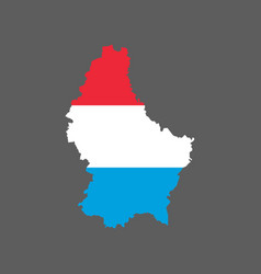 Luxembourg flag and map vector