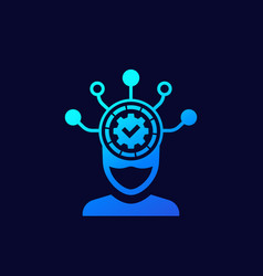 machine learning icon for web vector image