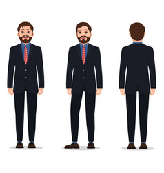 man dressed in a stylish business suit standing vector image