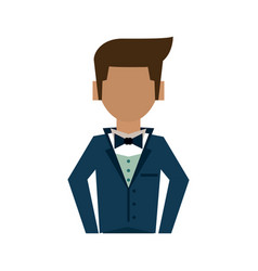 man in suit icon image vector image