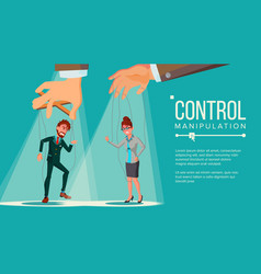 manipulation concept business people being vector image