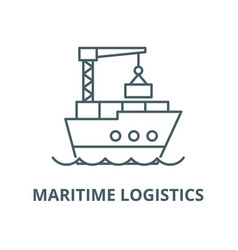 maritime logistics line icon linear vector image