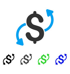 Money transfer flat icon vector