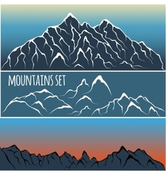 mountain range set vector image