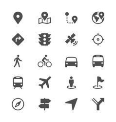 navigation glyph icons vector image