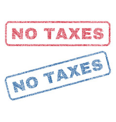 no taxes textile stamps vector image