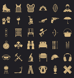Optional equipment icons set simple style vector