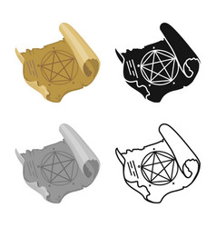 Parchment and alchemy vector