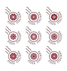 Pizzeria logo templates vector image