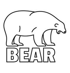 polar bear tears logo outline style vector image