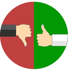 Positive and negative feedback concept Flat design vector