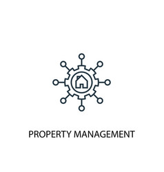 Property management concept line icon simple vector