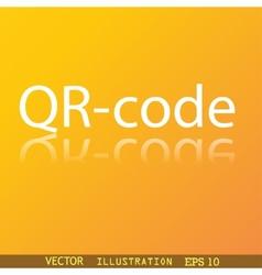 Qr code icon symbol Flat modern web design with vector