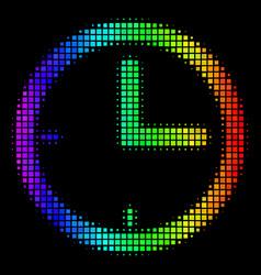 Rainbow pixel time icon vector