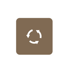 recycling symbol icon vector image