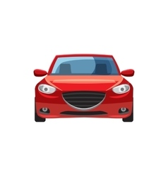 Red car icon in cartoon style vector image