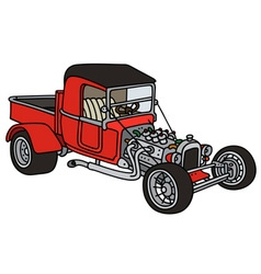 Red hot rod vector