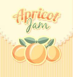 Retro apricot jam label vector