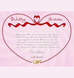 ribbon wedding r4 vector image