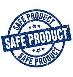 Safe product blue round grunge stamp vector