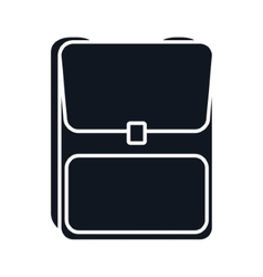 School backpack baggage vector