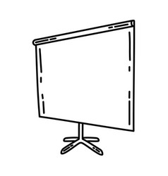 screen projector icon doodle hand drawn vector image