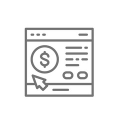 site loan application line icon isolated on white vector image