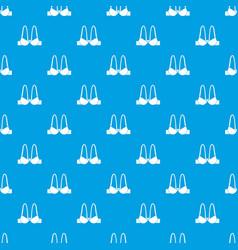 small bra pattern seamless blue vector image