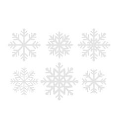 snowflakes collection for your design vector image