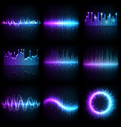 sound wave music audio equalizer frequency vector image